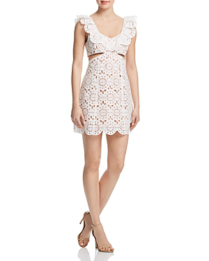 Red Carter Sadelle Lace Dress In Ivory
