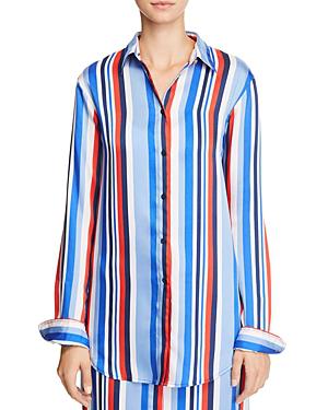 Ralph Lauren Lauren  Striped Cotton Button-down Shirt In Multi