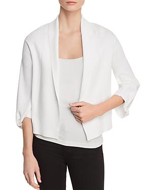 Donna Karan Open-front Cardigan In White