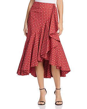 Petersyn Vanessa Ruffle Skirt In Bandana