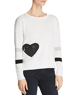 Lisa Todd Heartthrob Cotton-cashmere Sweater, Plus Size In White