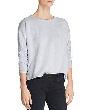 Lisa Todd Fresh Coat Splatter Print Sweater In Opal