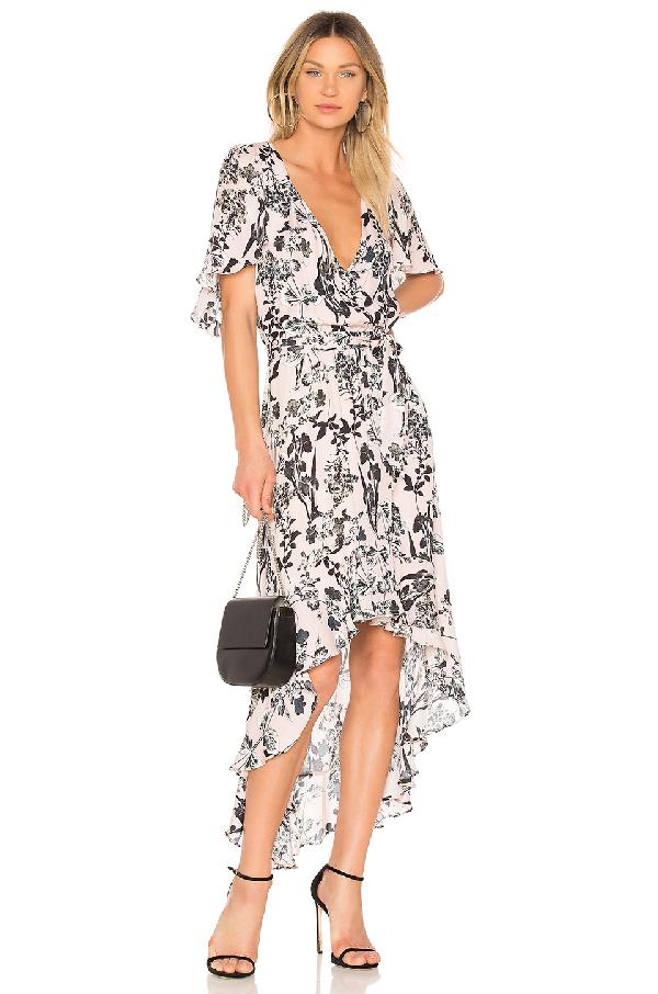 42757ab4dc Parker Demi Floral High Low Silk Dress