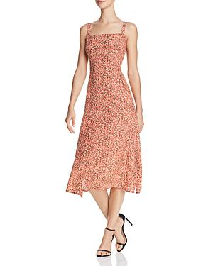 Faithfull The Brand Katergo Midi Dress In Blossom Vintage Pink