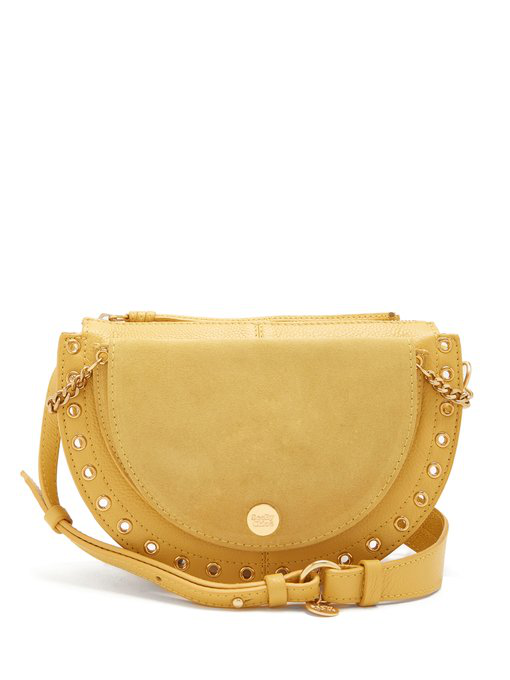 See By ChloÉ Kriss Suede Cross-body Bag In Yellow