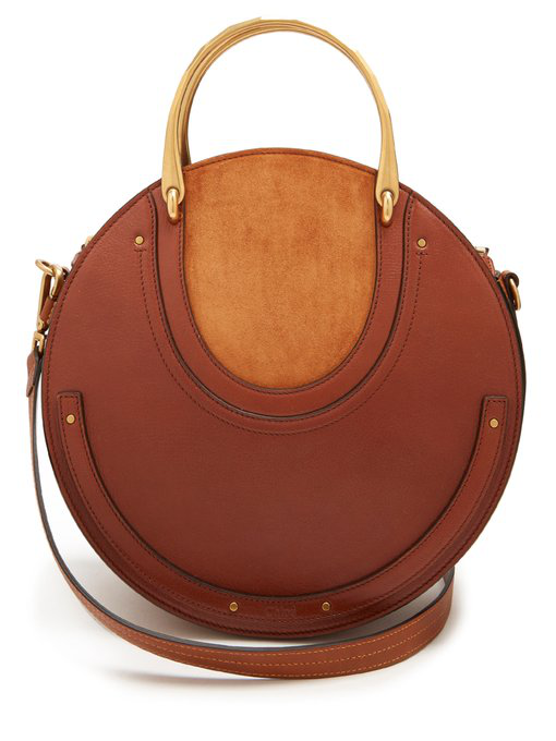 ChloÉ Pixie Suede And Leather Cross-body Bag In Tan