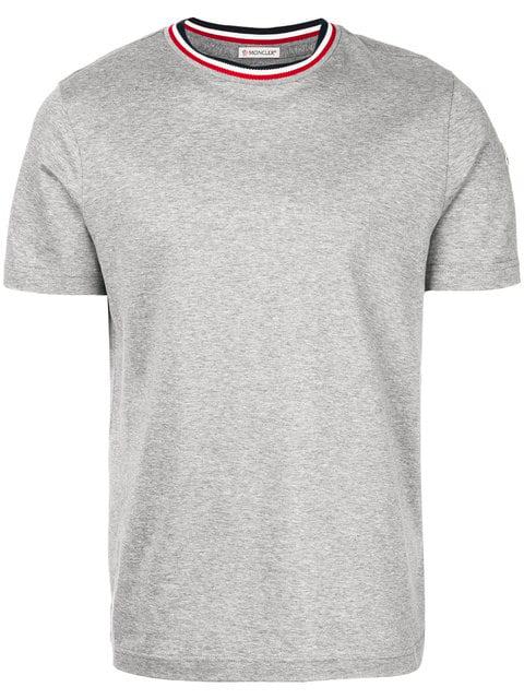 Moncler 对比圆领t恤 - 灰色