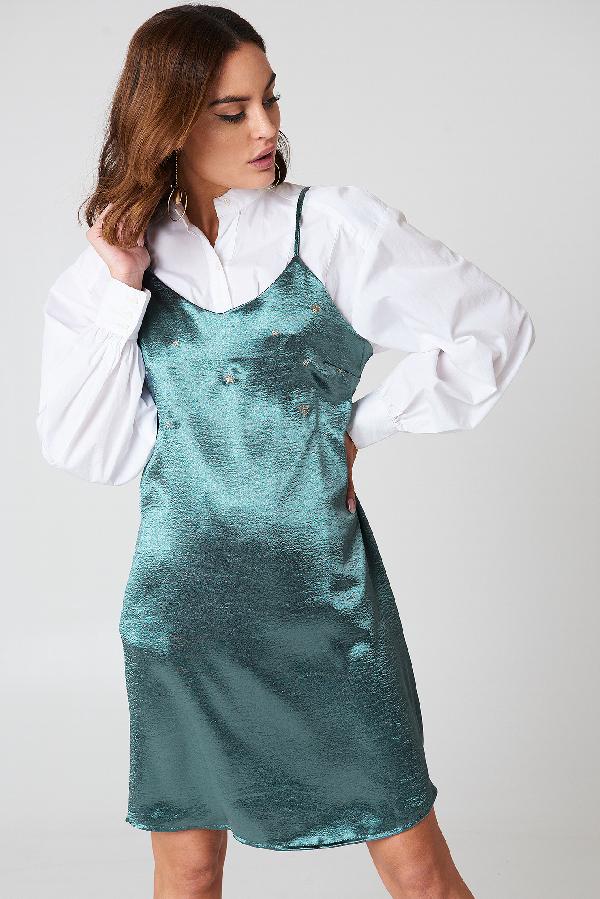 Glamorous Mini Slip Dress - Green