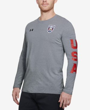 Under Armour Men's Long-Sleeve Charged Cotton T-Shirt In Grey