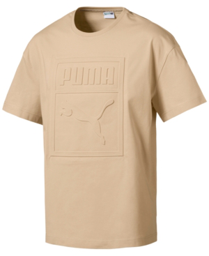 Puma Men's Archive Embossed Logo T-shirt In Off White