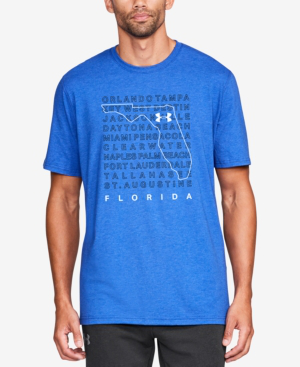 Under Armour Men's Charged Cotton Graphic-print T-shirt In Royal