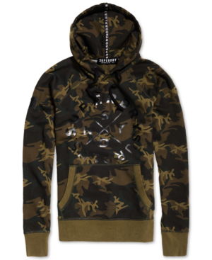 Superdry Men's Surplus Goods Camo Graphic-print Hoodie