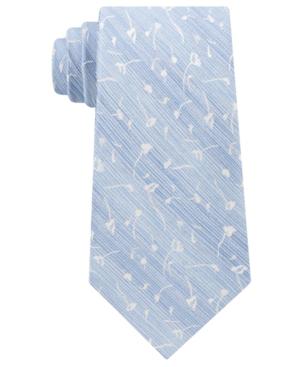 Calvin Klein Men's Mini Indigo Flower Tie In Light Blue