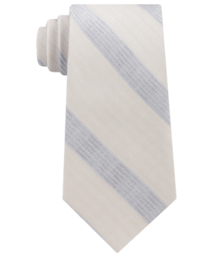 Calvin Klein Men's Cloud Stripe Silk Tie In Taupe