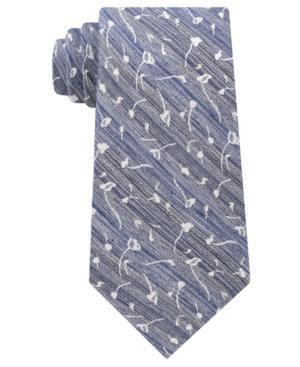 Calvin Klein Men's Mini Indigo Flower Tie In Navy