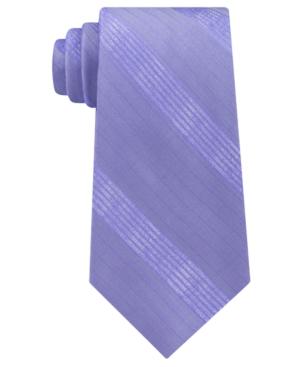 Calvin Klein Men's Cloud Stripe Silk Tie In Purple