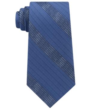 Calvin Klein Men's Cloud Stripe Silk Tie In Navy