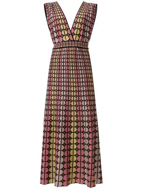 M Missoni Circle Print Dress In Multicolour
