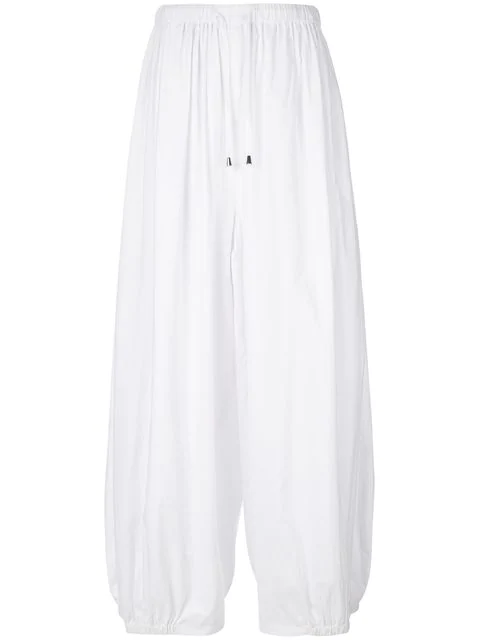 Unconditional Loose Fit Trousers - White