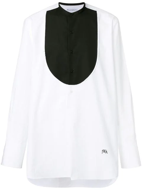 Jw Anderson Contrasting Bib Shirt