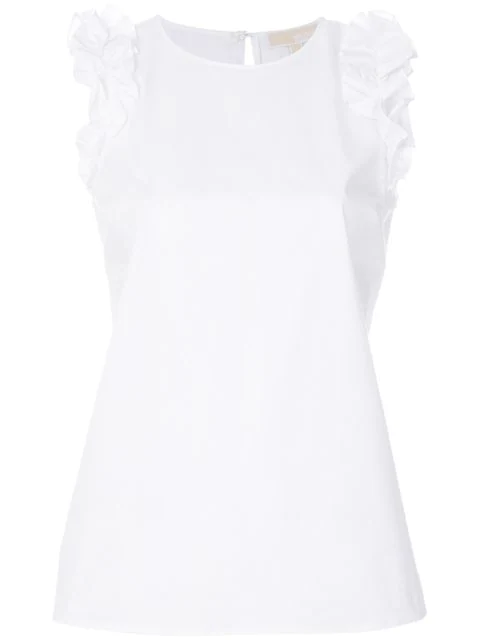 Michael Michael Kors Ruffle-sleeve Top