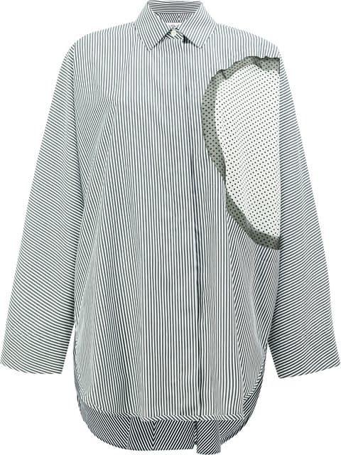 Maison Margiela Exposed Layer Detail Shirt - White