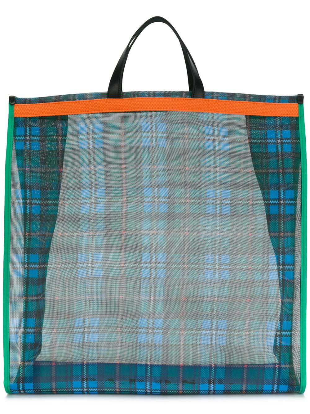 P.a.r.o.s.h. Checked Tote - Green
