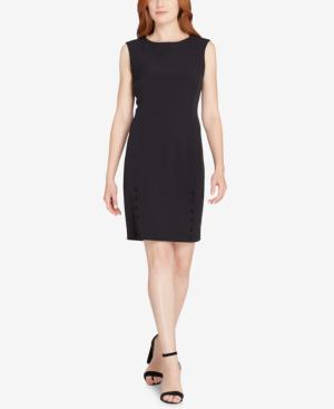 Tahari Asl Embellished Dress In Black