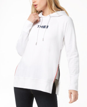 Tommy Hilfiger Sport Side-zip French Terry Hoodie, Created For Macy's In White