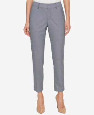 Tommy Hilfiger Houndstooth Ankle Pants In Midnight/multi