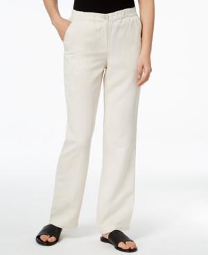 Eileen Fisher Tencel Straight-leg Pants, Regular & Petite In Bone