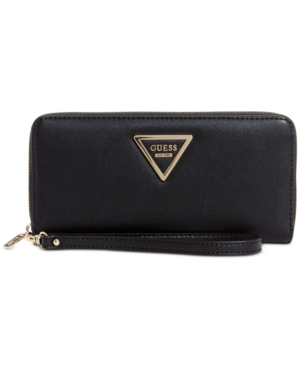 Guess Marisole Zip Around Boxed Wallet In Black