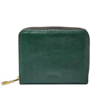 Fossil Emma Rfid Mini Wallet In Alpine Green