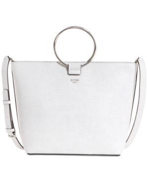 Guess Keaton Crescent Extra-large Tote In White