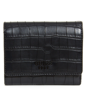 Guess Keaton Small Trifold Wallet In Black