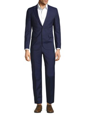 Hugo Boss Classic Wool Suit In Navy