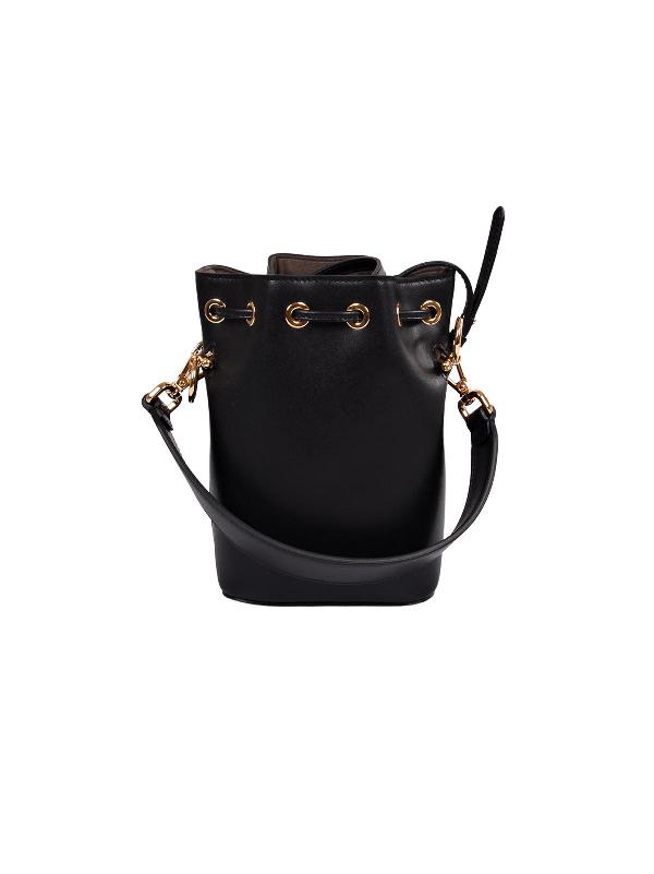 Fendi Mon Tresor Mini Satchel Bag In F0kur Nero+oro Soft