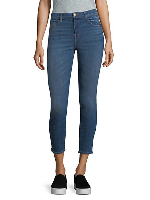 J Brand Alana High-rise Cropped Jeans/indigo In Angelic