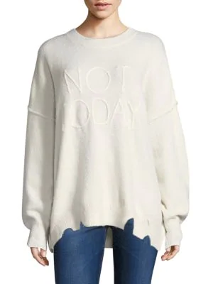 Wildfox Not Today Omen Sweater In Vintage Lace