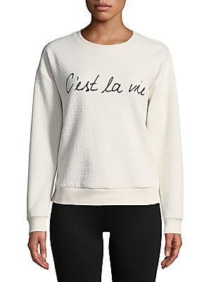 Marc New York Diamond-stitch Graphic Sweatshirt In Ivory