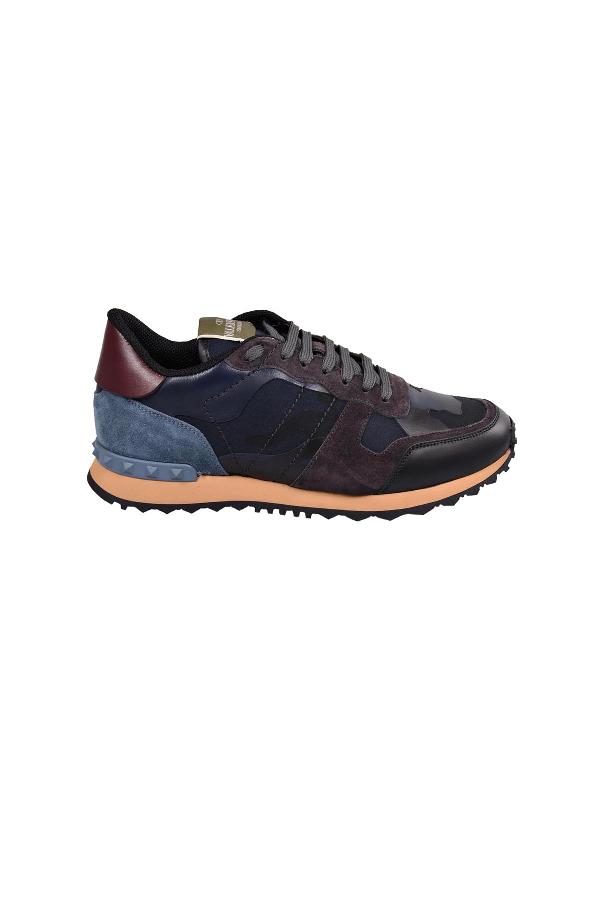 Valentino Sneakers In Mmarine-plumbeo-asphalt-rub