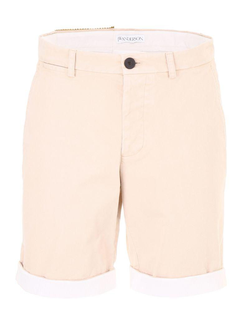 Jw Anderson Chino Bermuda Shorts In Flax beige