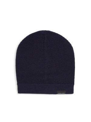 01ded02d2f1 Canada Goose Merino Wool Logo Trim Hat
