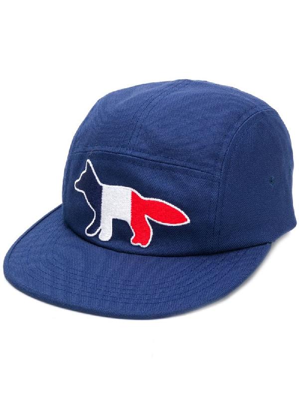 pretty nice ee871 cdbc5 Maison KitsunÉ Navy Blue Tricolor Fox Baseball Cap