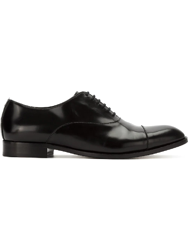 Emporio Armani Lace-up Oxford Shoes - Black
