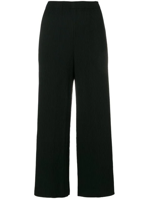Issey Miyake Cauliflower Pleated Cropped Trousers