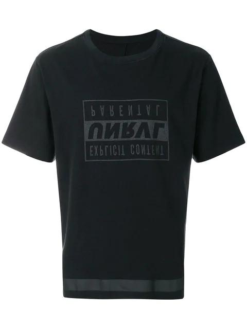 Ben Taverniti Unravel Project Inverted Logo T-shirt In Black