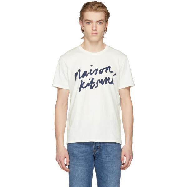 3b77c5a0fed6 Maison KitsunÉ Logo-Print Cotton T-Shirt In White