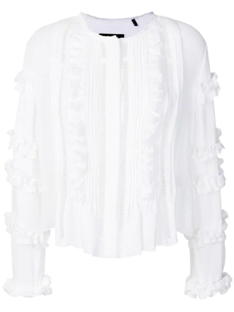 Isabel Marant Cosmos Ruffled Blouse In White