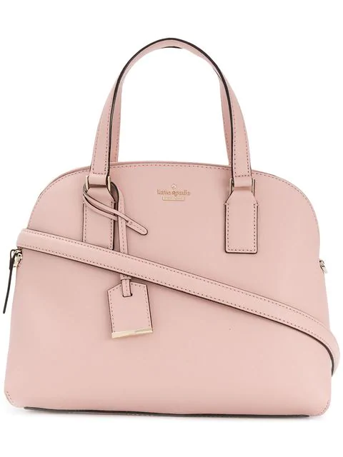 Kate Spade Logo Plaque Tote In Pink